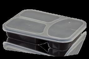 תבנית פלסטיק מחולקת עם מכסה
