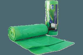 שקית אשפה בגליל עם שרוך 75/90 LD ירוק